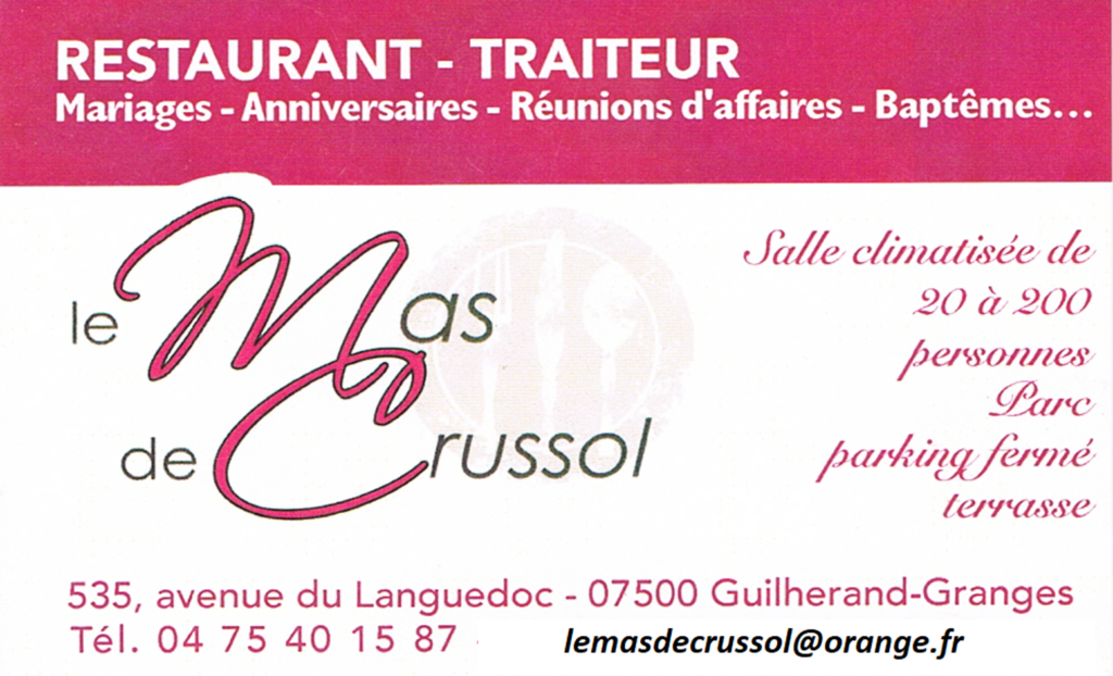 Restaurant Le Mas De Crussol
