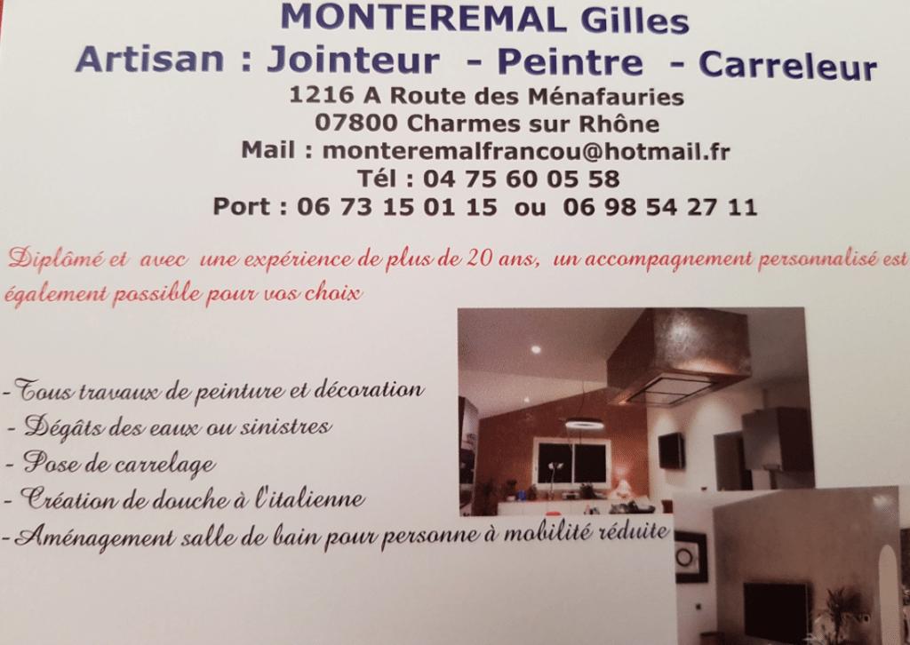 Monteremal Gilles artisan